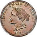 Patterns, 1874 $10 Bickford Ten Dollar, Judd-1375, Pollock-1520, Low R.7, PR65 Brown PCGS....