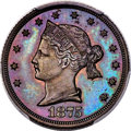 Patterns, 1875 $5 Sailor Head Five Dollar, Judd-1439, Pollock-1582, R.6-7, PR66 Red and Brown PCGS....