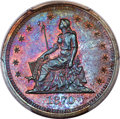 1870 25C Quarter Dollar, Judd-885, Pollock-983, R.6-7, PR67+ Red and Brown PCGS....(PCGS# 71129)