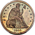 1865 $1 Seated Dollar, Judd-435, Pollock-508, Low R.7, PR63 Brown PCGS....(PCGS# 60620)