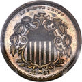 Patterns, 1866 5C Shield Five Cents, Judd-495, Pollock-582, High R.7, PR64+ Brown PCGS....