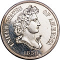 Patterns, 1859 P50C Half Dollar, Judd-239, Pollock-295, R.4, PR64 Ca...