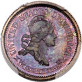 Patterns, 1870 10C Standard Silver Ten Cents, Judd-857, Pollock-937, R.7, PR65 Brown PCGS. CAC.. ...