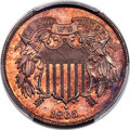 Patterns, 1865 2C Two Cents, Judd-409, Pollock-478, High R.6, PR65 Cameo PCGS. CAC....