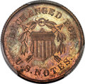 1863 10C Ten Cents, Judd-326, Pollock-395, High R.7, PR64+ Red and Brown PCGS....(PCGS# 535038)