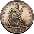 Patterns, 1863 50C Half Dollar, Judd-340, Pollock-412, Low R.6, PR64 PCGS. CAC....