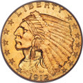 Indian Quarter Eagles, 1912 $2 1/2 MS66 PCGS. Ex: Simpson. Many Indian go...