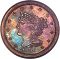 1846 1/2 C Second Restrike, B-3, R.6, PR64 Red and Brown PCGS....(PCGS# 1288)
