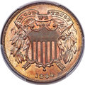 Two Cent Pieces, 1868 2C MS66 Red PCGS. Ex: Simpson. The 1868 two c...