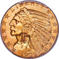Indian Half Eagles, 1909-S $5 MS66+ PCGS....