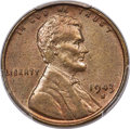 Lincoln Cents, 1943-S 1C Struck on a Bronze Planchet MS63 Brown PCGS. CAC...