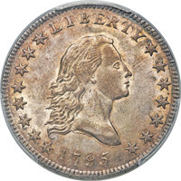 1795 50C Two Leaves, Small Head, O-126a, T-22, High R.4, MS63 PCGS....(PCGS# 39248)