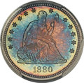 Proof Seated Quarters, 1880 25C PR68 PCGS. Briggs 2-B. Ex: Simpson. Type ...