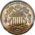 1870 5C Shield nickel, Judd-805, Pollock-893, High R.7, PR67 Brown PCGS....(PCGS# 61049)