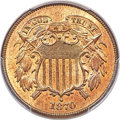 Two Cent Pieces, 1870 2C MS65 Red PCGS. Ex: Simpson. The 1870 two c...
