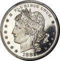 Patterns, 1880 $1 Goloid Metric Dollar, Judd-1653, Pollock-1853, High R.7, PR68 Cameo PCGS....
