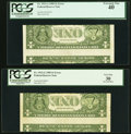 Inverted Back Error Fr. 1913-A; G $1 1985 Federal Reserve Notes. PCGS Graded Extremely Fine 40; Very Fine 30