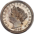 Patterns, 1882 5C Liberty Head Five Cents, Judd-1680, Pollock-1882, Low R.6, PR65 PCGS. CAC....