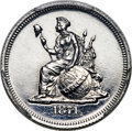 Patterns, 1871 10C Standard Silver Ten Cents, Judd-1076, Pollock-1212, R.8, PR64+ PCGS....