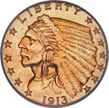 Indian Quarter Eagles, 1913 $2 1/2 MS65+ PCGS. Ex: Simpson. This Philadel...