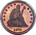 Patterns, 1876 25C Quarter Dollar, Judd-1455, Pollock-1604, R.8, PR64+ Red and Brown PCGS. ...