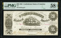 Confederate Notes:1861 Issues, T9 $20 1861 PF-12 Cr. 31 PMG Choice About Unc 58 EPQ.. ...