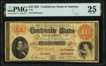 Confederate Notes:1861 Issues, T24 $10 1861 PF-11 Cr. 164 PMG Very Fine 25.. ...