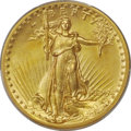 High Relief Double Eagles, 1907 $20 High Relief, Wire Rim MS64 PCGS. To colle...