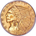 Indian Half Eagles, 1913 $5 MS66 PCGS. Ex: Simpson. The 1913 half eagl...