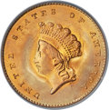 Gold Dollars, 1855 G$1 Type 2 MS67 PCGS. Ex: Simpson. The Type T...