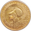 Commemorative Gold, 1915-S $50 Panama-Pacific 50 Dollar Round MS63+ PCGS.