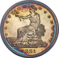 Proof Trade Dollars, 1881 T$1 PR67 Deep Cameo PCGS. The 1881 Trade doll...