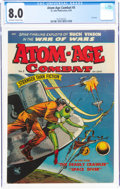 Golden Age (1938-1955):War, Atom-Age Combat #5 (St. John, 1953) CGC VF 8.0 Off-white to white pages....