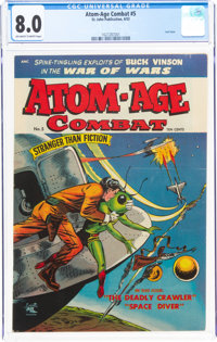 Atom-Age Combat #5 (St. John, 1953) CGC VF 8.0 Off-white to white pages
