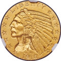 Proof Indian Half Eagles, 1915 $5 PR66 NGC. JD-1, R.4. Ex: Simpson. Only 75 ...