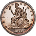 Patterns, 1871 50C Standard Silver Half Dollar, Judd-1111, Pollock-1...