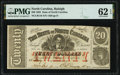 Obsoletes By State:North Carolina, Raleigh, NC- State of North Carolina $20 Jan. 1, 1863 Cr. 119 PMG Uncirculated 62 EPQ.. ...