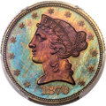 Patterns, 1870 $5 Five Dollar, Judd-1032, Pollock-1167, High R.7, PR66 Brown PCGS...