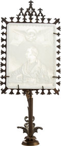 Political:3D & Other Display (pre-1896), Zachary Taylor: Lithophane with Original Stand....