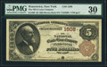 National Bank Notes:New York, Watertown, NY - $5 1882 Brown Back Fr. 469 The National Bank & Loan Company Ch. # 1508 PMG Very Fine 30.. ...
