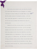 Autographs:U.S. Presidents, Franklin D. Roosevelt: Annotated and Signed Public Works Speech....