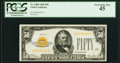 Small Size:Gold Certificates, Fr. 2404 $50 1928 Gold Certificate. PCGS Extremely Fine 45.. ...