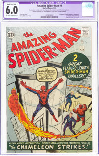 The Amazing Spider-Man #1 (Marvel, 1963) CGC Apparent FN 6.0 Moderate/Extensive (B-4) Off-white to white pages