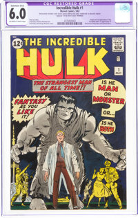 The Incredible Hulk #1 (Marvel, 1962) CGC Apparent FN 6.0 Extensive (B-5) Off-white to white pages