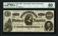 Confederate Notes:1862 Issues, T49 $100 1862 PF-5 Cr. 349 PMG Extremely Fine 40.. ...
