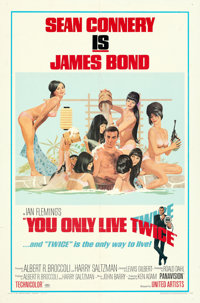 "You Only Live Twice (United Artists, 1967). Folded, Very Fine. One Sheet (27"" X 41"") Style C, Robert McGinnis..."