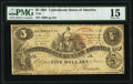 Confederate Notes:1861 Issues, Trans-Mississippi Reissue Stamp T36 $5 1861 PF-2 Cr. 274 PMG Choice Fine 15.. ...