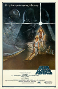 """Star Wars (20th Century Fox, 1977). Rolled, Very Fine. First Printing One Sheet (27"""" X 41"""") No Ratings Box Sty..."""