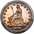 Patterns, 1870 25C Standard Silver Quarter, Judd-876, Pollock-973, Low R.7, PR65+ Cameo PCGS. CAC....