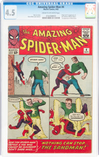 The Amazing Spider-Man #4 (Marvel, 1963) CGC VG+ 4.5 Cream to off-white pages
